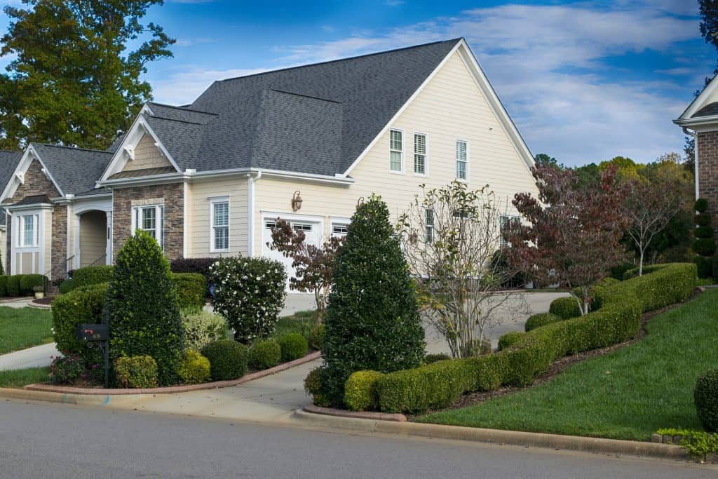 Landscaping front of home.