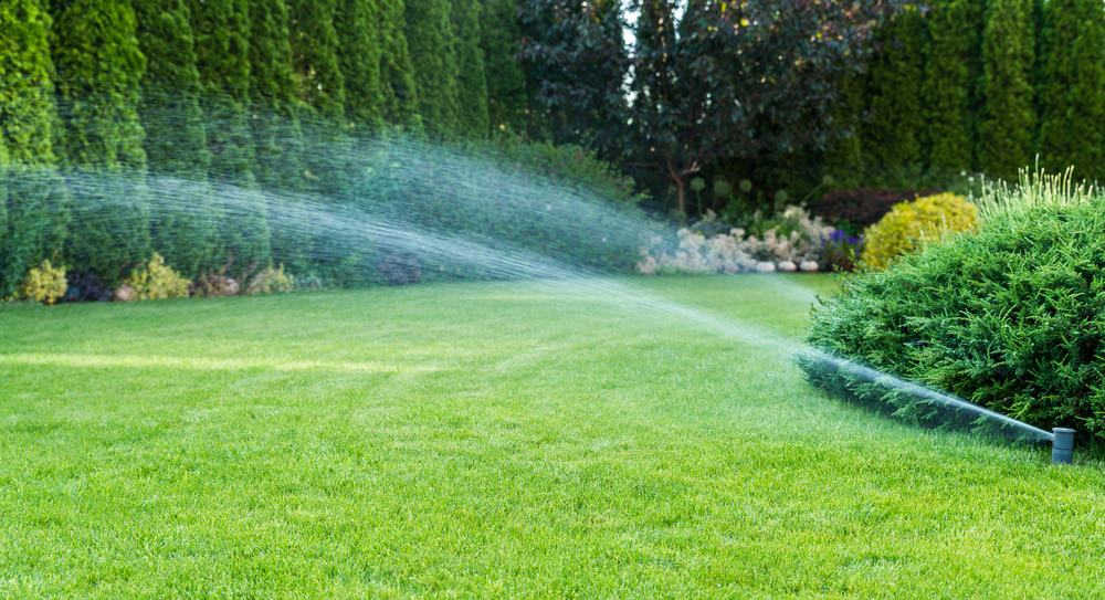 a sprinkler system that covers your entire lawn